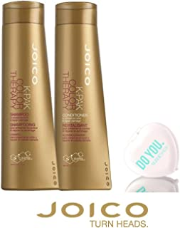 Joico K-Pak Color Therapy Shampoo & Conditioner DUO SET - to preserve color & repair damage (with Sleek Compact Mirror) (10.1 oz / 300ml DUO Kit)