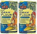 2 x 1 kg TRS Gram Harina Besan Garbanzos para Pakoras Cebolla Bhajis