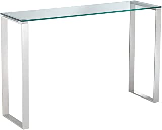 """David 47 1/2"""" Wide Steel and Glass Modern Console Table - Studio 55D"""