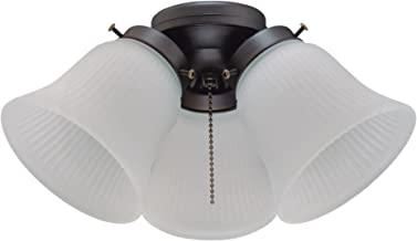 Westinghouse Lighting 7785000 Three LED Cluster Ceiling Fan Light Kit, Oil Rubbed Bronze Finish with Frosted Ribbed Glass