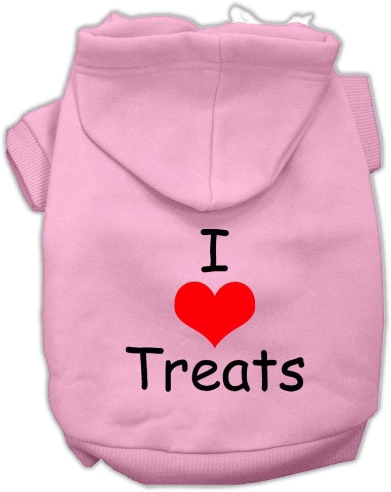 Mirage Pet Products I New product! New type Love Treats Screen Hoodies Print Max 68% OFF Pink