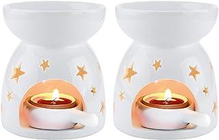 Amazon Com Tea Light Candle Holders Ceramic Tea Light Holders Candleholders Home Kitchen