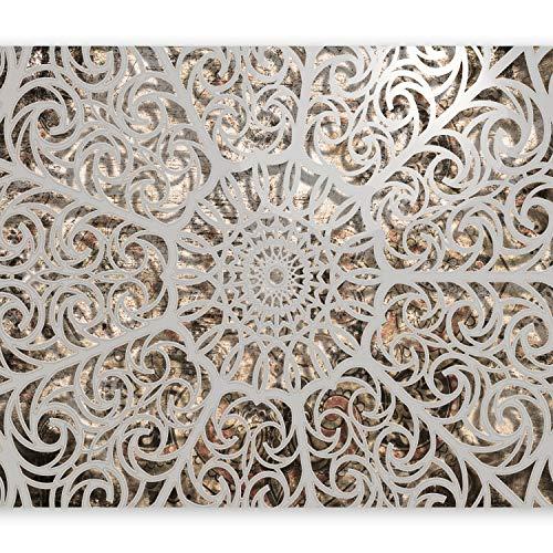 murando Fototapete 400x280 cm Vlies Tapeten Wandtapete XXL Moderne Wanddeko Design Wand Dekoration Wohnzimmer Schlafzimmer Büro Flur Mandala Orient Astrakt 3D f-A-0583-a-a