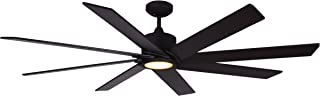 TroposAir Northstar 60-Inch DC Ceiling Fan in Oil Rubbed Bronze with Integrated LED Light and Remote