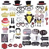 Photobooth Kit Matrimonio – ZWOOS 54pcs Fotografie Wedding Booth Puntelli Decorazioni Photo Booth