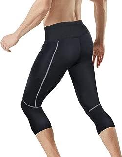 Junlan Men's Weight Loss Sauna Hot Sweat Thermo Shorts Body Shaper Neoprene Athletic Yoga Pants Gym Tummy Fat Burner Slimming