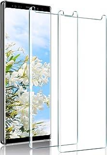 【2枚セット】Galaxy note9 フィルム 【日本製素材旭硝子製】 Galaxy note9 ガラスフィルム 9Dラウンドエッジ加工/業界最高硬度9H/高透過率/3D Touch対応/自動吸着 強化ガラス液晶保護フィル 全面フルカバー (透明)
