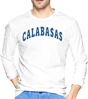 Fuworthri Calabasas Men's Cotton Long-Sleeve T-Shirt Crew Neck