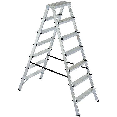 Stufen-Doppelleiter Alu