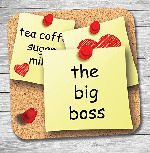 Funny/lustiges Geschenk Büro Banter Tee/Kaffee Untersetzer (The Big Boss)