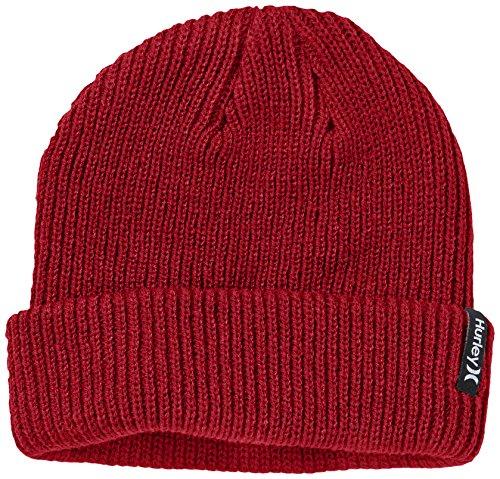 Hurley Mütze Shipshape - Gorro de esquí para Hombre, Color Rojo, Talla...