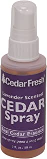 Household Essentials CedarFresh 84802 Cedar Power Spray with Lavender Essence Scent | Protects Closets from Pests | Restores Scent to Cedar Wood Accessories | 2 fl. oz.