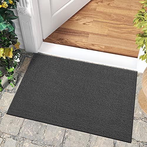 DEXI Felpudos Entrada Casa 76.5 x 120cm,Felpudo de Entrada,Alfombrilla Antideslizante,fácil Limpieza,Ideal para Puerta Exterior o Pasillo,Gris