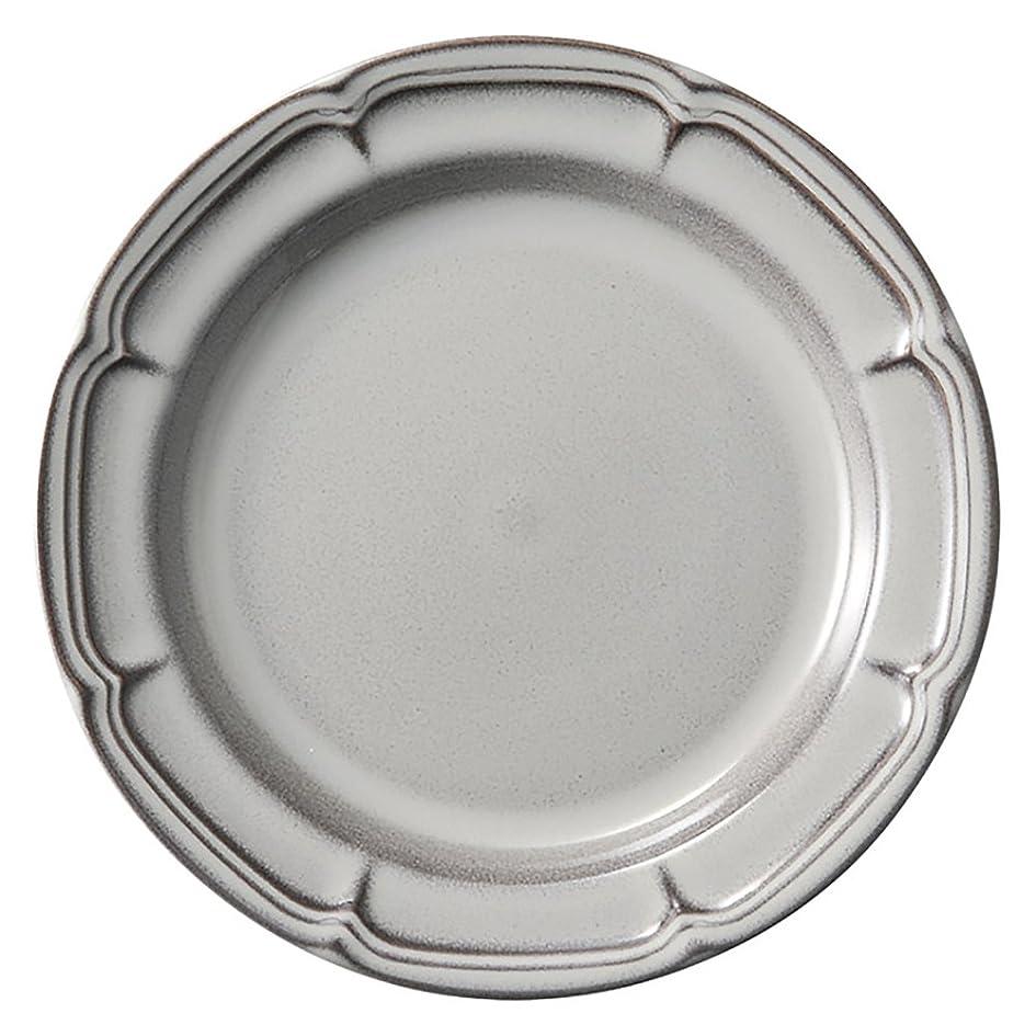 奨励しますリーク変える光洋陶器 ラフィネ リムプレート 23.5cm ストームグレー 15973004
