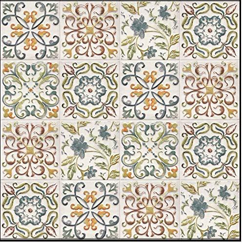 Azulejo de cerámica forma abombada, medidas 15 x 15 cada azulejo 1 metro cuadrado (44 piezas), azulejos surtidos