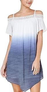 Juniors' Dip-Dyed Off-The-Shoulder Shift Dress