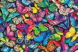 Puzzle 1000 Piezas, Mariposas Vívidas-Puzzle Madera para Familias, Puzzle Adultos para Amigos, Adolescentes y Ancianos