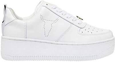 Windsor Smith Shoes Woman Sneakers with Platform RACERR Bianco Size 41 White