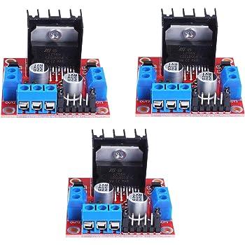 L298N Motor Driver Controller Board Module, 3 PCS DC Dual H-Bridge Stepper Motor for Arduino Smart Car Power UNO MEGA R3 Mega2560