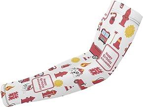BJAMAJ Brandweerman Wrapping Papier Vierkant UV Bescherming Koeling Arm Mouwen Arm Cover Zonwering Voor Mannen & Vrouwen J...