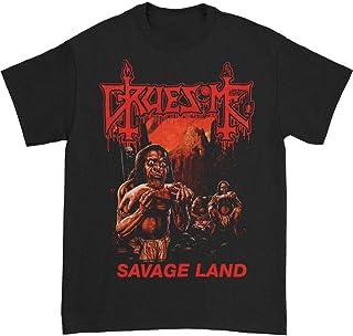 Gruesome Savage Land Black Tシャツ