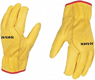 Unisex Leather Work Working Driving Gloves - Premium Quality - Driver/Lorry/Car Truck - Slick Fir - WITHOUT LINING (UNLINE...