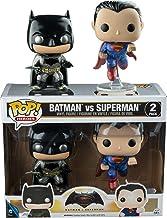 Funko, 7005–Batman vs Superman: 2 Figuras Pop Vinyl, en versión metálica
