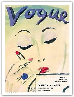 Fashion Magazine - November 15, 1933 - Vintage Magazine Cover by Carl Erickson c.1933 - Master Art Print 9in x 12in