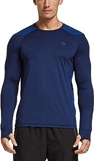 BALEAF Men's Athletic Long Sleeve Shirts Biking Hiking UPF 50+ Sun Protection SPF Running Quick Dry Thumbholes T-Shirts