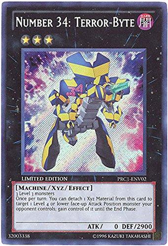 YU-GI-OH! - Number 34: Terror-Byte (PRC1-ENV02) - 2012 Premium Tin - Limited Edition - Secret Rare