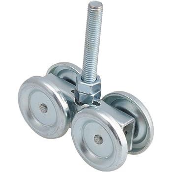 Silver Steel Sliding Track Roller Hanging Barn Door Rail 24mm Trolley Wheel H4-3