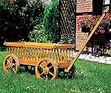Leiterwagen 120 x 49 x 60 cm Kiefer Bollerwagen Gartendeko Wagen NEU