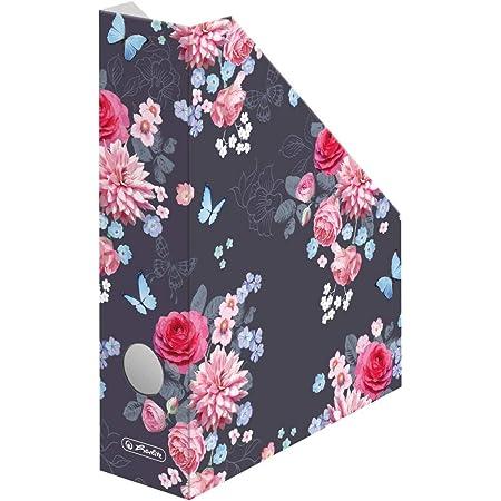 Porte-revues A4 Ladylike Flowers en carton ondulé Largeur du dos 7 cm
