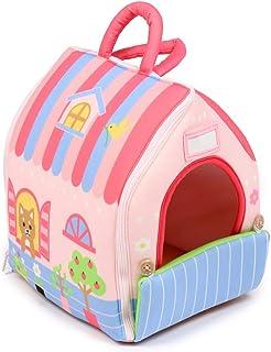 マザーガーデン いっしょにおさんぽシリーズ わんちゃん用 ハウス 桃 《ピンク》単品 ぬいぐるみ用 お世話ごっこ おもちゃ 594-44636