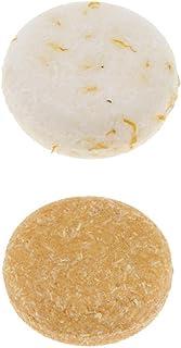 MagiDeal 2Pcs Solid Bar Shampoo Soap, Bath Bar Soap Hair Growth Soap Bar for Hair Loss Cleaning Calendula Flowers and Honey