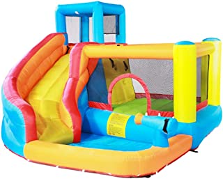 Castillo Inflable para niños Parque Infantil pequeño Interior Cama elástica para niños al Aire Libre Tobogán para niños Juguetes Infantiles Grandes para niños y niñas