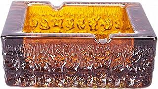 Easternam Cenicero de Cobre Puro Acondicionamiento interior Ceniceros cenicero Grande Antiguo Creativo Sala de Estar Dormitorio de la Oficina Hogar Cobre Artesanía Adornos