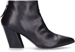 HALMANERA Luxury Fashion Womens ROSE68 Black Ankle Boots | Fall Winter 19