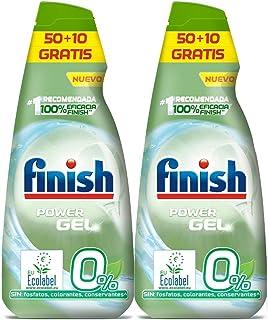 Finish Power Gel 0% afwasmiddel met biologisch certificaat, 2 stuks - 120 blikjes
