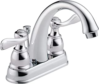 Delta Faucet Windemere 2-Handle Centerset Bathroom Faucet with Metal Drain Assembly, Chrome B2596LF