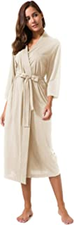 SIORO Women's Kimono Robes Cotton Lightweight Robe Long...