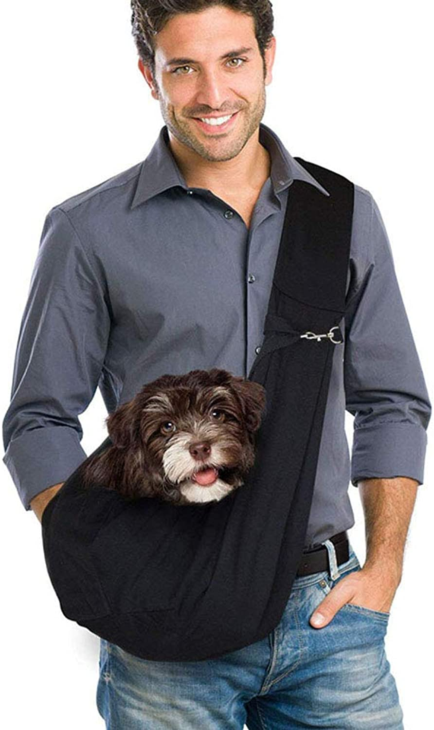Pet Shoulder Bag Small Dog and Cat Travel Carrier, Shoulder Bag with Sling for Puppies Less Than 5 kgs