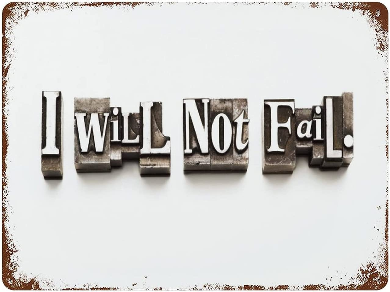 I Indefinitely Gifts Will Not Fail Done with Type. Random Sligh Vintage Letterpress