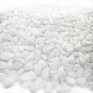 JZMYXA Aquarium Decorative Sands White Gravel Pebbles Fit for Aquariums Succulent Plants Terrarium Landscape, 2 Pounds