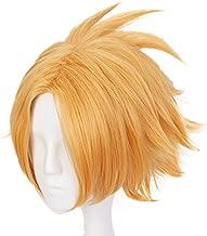 My Hero Academia Kaminari Denki short wig hair Cosplay wig+/'lightning/' headwear