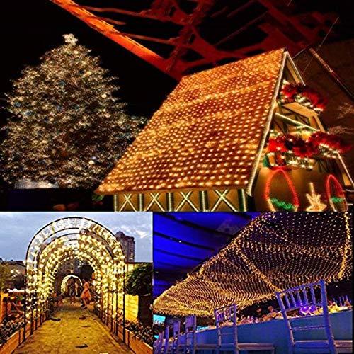 Intermitente malla Luz de Navidad Navidad luz neta, Valla Telón de fondo cadena luces LED 8 de los modos de cortina de luz de las luces decorativas de interior 3-30m iluminación al aire libre del jard