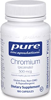 Pure Encapsulations - Chromium (Picolinate) 500 mcg - Hypoallergenic Support for Healthy Lipid and Glucose Metabolism - 18...