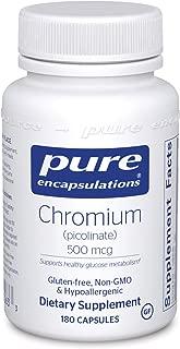 Pure Encapsulations - Chromium Picolinate (500 mcg) - Hypoallergenic Support for Healthy Lipid and Glucose Metabolism* - 180 Capsules