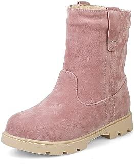 Women's Winter Snow Boots Warm Fur Suede Waterproof Short Boots Slip On Flat Low Heel Casual Ankle Boots