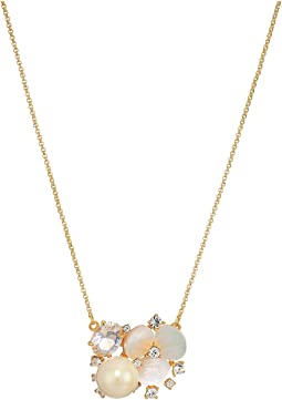 Disco Pansy Cluster Pendant Necklace